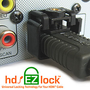 The most versatile HDMI cable locking system
